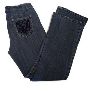 Nicole Miller Women's Jeans with Embroidered Pkts